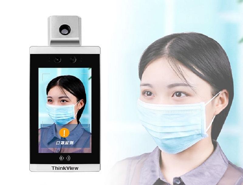 Control de acceso de asistencia de medición de temperatura de reconocimiento facial, ayudando a las empresas (de base) a prevenir y controlar epidemias